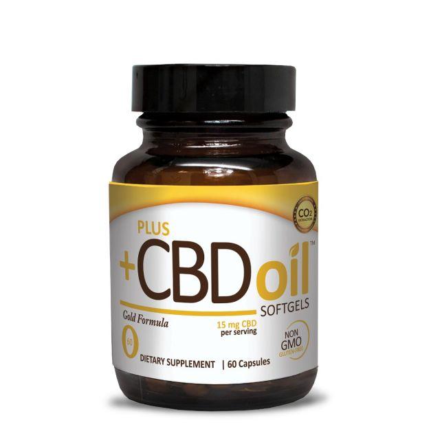 CBD Oil Softgels Gold Formula 15 mg 60 softgels