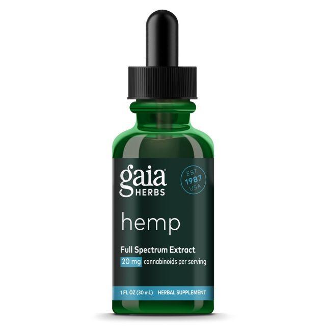 Gaia Herbs Hemp Full Spectrum Extract 20 mg 1oz Gaia Herbs
