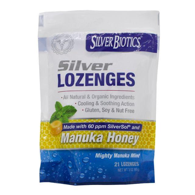 Silver Lozenges with Manuka Honey