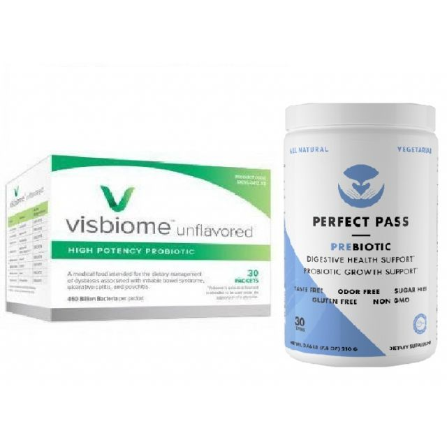 Visbiome Probiotic Packets + Perfect Pass Prebiotic