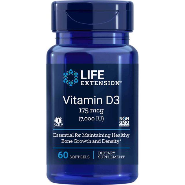 Vitamin D3 7,000 UI 60 sgles Life Extension