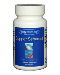 Copper Sebacate 75 caps by Allergy Research Group