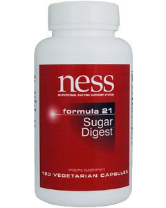 Sugar Digest #21 180 vcaps by Ness Enzymes