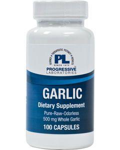 Garlic 500mg 100 caps Progressive Labs