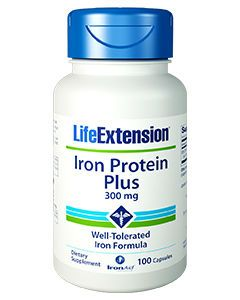 Iron Protein Plus 300mg 100 caps by Life Extension