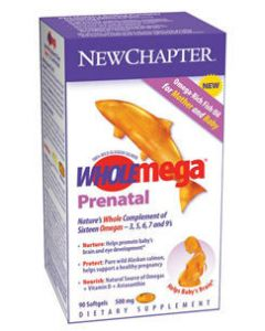 WHOLEmega Prenatal 500 mg 90 sgels New Chapter