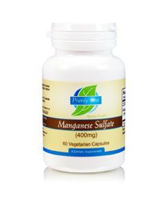 Manganese Sulfate 400mg 60 vcaps by Priority One