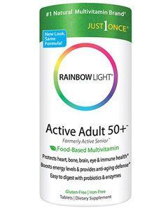 Active Adult 50+ Multivitamin (Formerly Active Senior) 90 tabs by Rainbow Light Nutrition