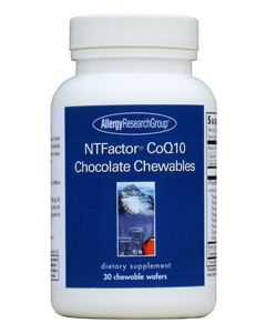 NTFactor CoQ10 Chocolate Chewables 30 wafers by Allergy Research Group