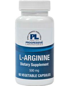 L-Arginine 500 mg 60 vcaps Progressive Labs
