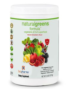 Natural Greens Formula Strawberry 9.5oz by BioPharma Scientific