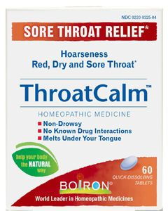 ThroatCalm 60 tabs by Boiron