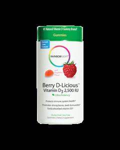 Berry D-Licious 2,500 IU Vitamin D3 by Rainbow Light Nutrition