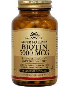 Biotin 5,000mcg 100 Vegetable Capsules by Solgar