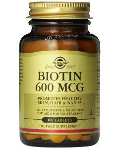 Biotin 600mcg 100 Vegetable Capsules by Solgar