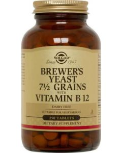 Brewer's Yeast 7 1/2 Grains with Vitamin B12 250tablets by Solgar