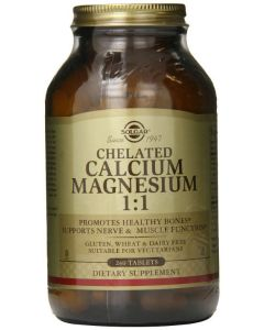 Chelated Calcium Magnesium 1:1 240tablets by Solgar