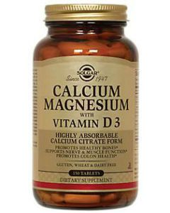 Calcium Magnesium with Vitamin D3 150tablets by Solgar