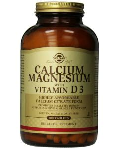 Calcium Magnesium with Vitamin D3 300tablets by Solgar
