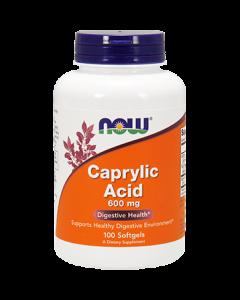 Caprylic Acid 600 mg 100 sgels NOW