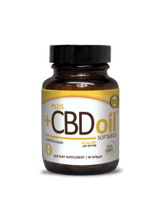 CBD Oil Softgels Gold Formula 15 mg 30 softgels