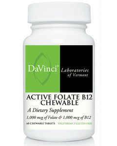 Active Folate B12 Chewable 60 tabs Davinci Labs