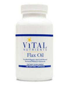 Flax Oil Caps 1000mg 100 gels by Vital Nutrients
