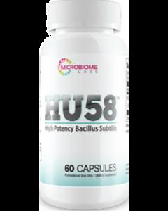 HU58 High Potency Bacillus Subtilis 60 caps Microbiome Labs