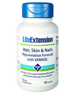 Hair, Skin & Nails Rejuvenation Formula 90 tabs by Life Extension