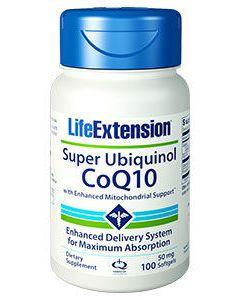 Super Ubiquinol CoQ10 50mg 100 sgels by Life Extension