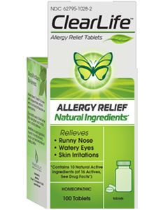 ClearLife Allergy Relief 100 Tablets (formerly Adrisin) by MediNatura