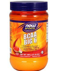 BCAA Big 6 Watermelon 600g by NOW Sports