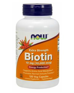 Biotin Extra Strength 10mg 120 vcaps by NOW Foods