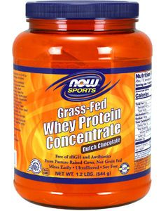 Grass-Fed Whey Protein Chocolate 1.2 lbs by NOW Sports