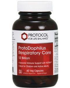 ProtoDophilus Respiratory Care 12 Billion 60 vcaps by Protocol For Life Balance