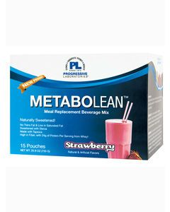 MetaboLean Strawberry 15 Pouches by Progressive Labs