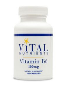 Vitamin B6 100 mg 100 caps by Vital Nutrients
