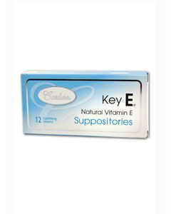 Vitamin Key E Suppositories 12 supp Carlson Labs