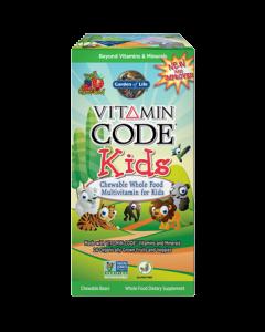 Vitamin Code Kids Chewable Multi 30 tabs Garden of Life