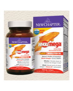 Wholemega Whole Fish Oil 1,000 mg 120 softgels New Chapter