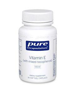Vitamin E with mixed tocopherols 90