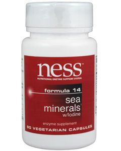 Sea Minerals w/Iodine #14 90 caps by Ness Enzymes