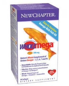 WHOLEmega 500 mg 90 softgels New Chapter