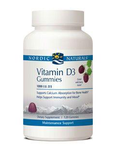 Vitamin D3 120 Gummies 1,000IU Nordic Naturals
