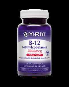 B-12 Methylcobalamin 2000 mcg 60 loz MRM