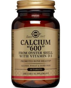 """Calcium """"600"""" Tablets from Oyster Shell with Vitamin D3 240 Tablets Solgar"""