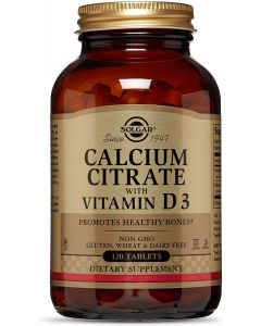 Calcium Citrate with Vitamin D3 120 Tablets Solgar