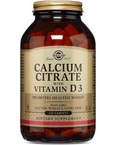 Calcium Citrate with Vitamin D3 240 Tablets Solgar