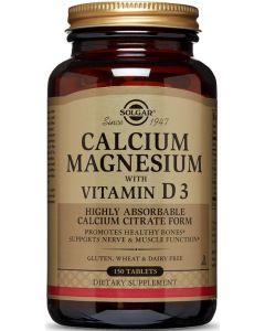 Calcium Magnesium with Vitamin D3 150 tablets Solgar
