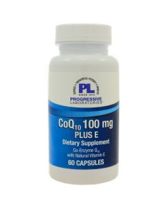 CoQ10 100 mg Plus E 60 caps Progressive Labs